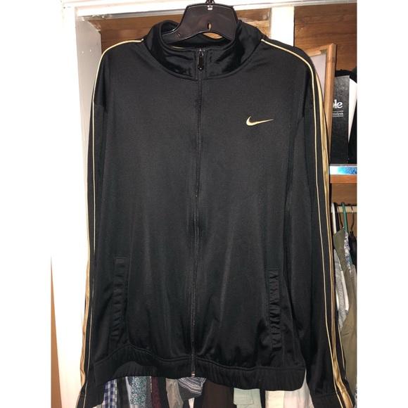 a067b339cccd Nike Men s Athletic Track Jacket Size L black gold.  M 5ab1b4fb00450f5384fa192e